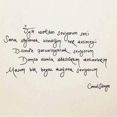 Óyle uzakdan seviyorum sení.. William Shakespeare, Learn Turkish, Poem Quotes, Carpe Diem, Cool Words, Karma, Einstein, Literature, Lyrics