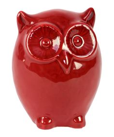 Red Owl Statue