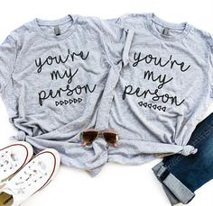 a6d363514 Gift for Best Friend   Best Friend, Best Friends Shirts, Matching Tees, BFF  Shirt, You're My Person, Best Friend Gift, Best Friend T Shirts