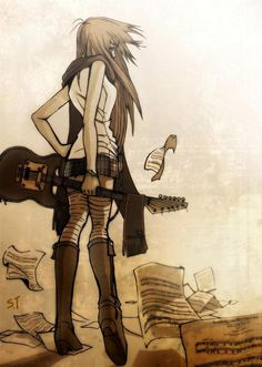 Anime girl with guitar http://guitarclass.org makes me think of one of a couple of my friends who are girls that love music