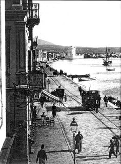 1905 - Thessaloniki, at the port Greece Macedonia Greece, Athens Greece, Still Photography, History Of Photography, Greece Pictures, Old Pictures, Beautiful Islands, Beautiful Places, Wonderful Places