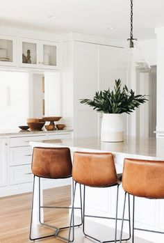 Future Home Interior White Kitchen Renovation - Home Bunch Interior Design Ideas.Future Home Interior White Kitchen Renovation - Home Bunch Interior Design Ideas Home Decor Kitchen, Kitchen Interior, Home Kitchens, Kitchen Paint, Kitchen Cabinets, Kitchen Ideas, Diy Kitchen, Soapstone Kitchen, Kitchen Designs