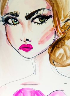 fashion illustration // blair breitenstein for megbiram.com