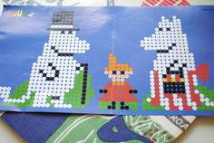 pattern moomin - Google zoeken Lace Knitting Patterns, Knitting Charts, Cross Stitch Patterns, Hama Beads Patterns, Beading Patterns, Fuse Beads, Perler Beads, Hama Art, Beaded Cross Stitch