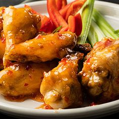 Defy expectations with the taste sensation of the year: our Sweet Chili Wings! We've got the ultimate sweet chili wings recipe, just for you. Sweet Chili Chicken Wings Recipe, Easy Chicken Wing Recipes, Grilled Chicken Recipes, Summer Grilling Recipes, Healthy Grilling, Super Bowl Menu, Grilled Wings, Air Fryer Chicken Wings, Honey Wings