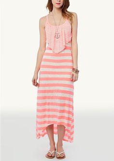 Striped Popover Maxi Dress | Maxi | rue21