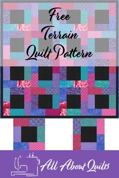A free beginners quilt pattern using a repeating block pattern. Download your free copy today. Beginner Quilt Patterns, Quilting For Beginners, Quilt Patterns Free, Quilt Tutorials, Pattern Blocks, Quilting Projects, Quilting Designs, Quilt Design, Quilt Making