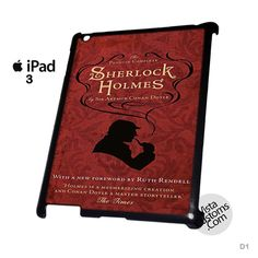 Sherlock Holmes Cover Book Phone Case For Apple, iPhone 4, 4S, 5, 5S, 5C, 6, 6 +, iPod, 4 / 5, iPad 3 / 4 / 5, Samsung, Galaxy, S3, S4, S5, S6, Note, HTC, HTC One, HTC One X, BlackBerry, Z10