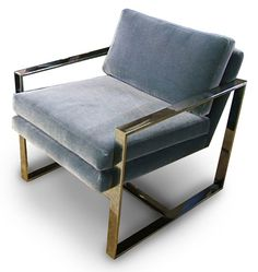 Brass (?) base armchair by Davinci Custom Furniture - Los Angeles