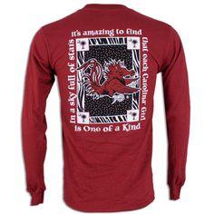 South Carolina Gamecock Ladies Long Sleeve Shirt