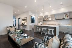 Pendant lights illuminate the professional kitchen within the remodeled Noe Valley Victorian. Photo: Open Homes Photography