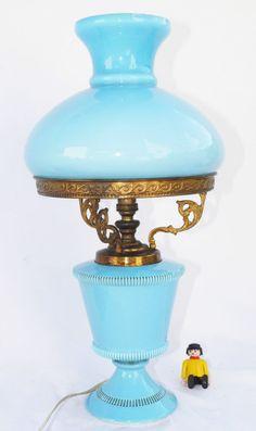 LAMPARA SIN TULIPA ANTIGUA  ART DECO BRONCE  CERAMICA VINTAGE  RETRO LAMP