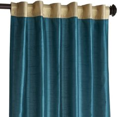 Pier 1 Imports Hamilton Curtain (70 AUD) ❤ liked on Polyvore featuring home, home decor, window treatments, curtains, teal, teal curtains, pier 1 imports, teal home accessories, teal blue curtains and teal home decor