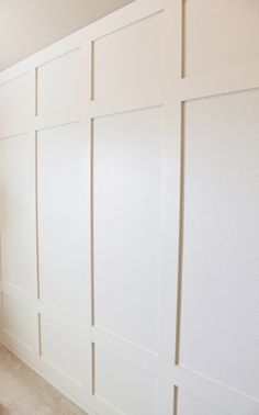 Simple board and batten DIY paneled wall tutorial! We didn't add any trim to our version so it's a little more modern for the boy's room. Bedroom Wall, Girls Bedroom, Bedroom Decor, Master Bedrooms, Dream Bedroom, Design Bedroom, Bedroom Ideas, Board And Batten, Wall Treatments