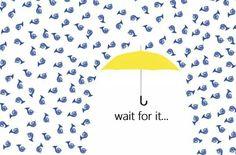 umbrella >>>> blue french horn