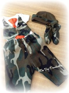 ORDER BY FRIDAY OCTOBER 25TH AND GET THIS FOR HALLOWEEN.Baby Boy Camouflage Layette Set/take home by TheTinyTrendsetter