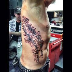 "Hetfield's latest tattoo, featuring lyrics from ""Where the Wild Things Are""  Photo by papa_het_"