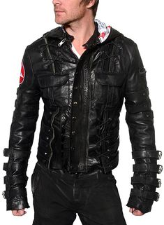 front JUNKER DESIGNS - Chainsaw Leather Jacket - J Ransom Store - J Ransom Clothing Store