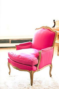 Hot Pink Antique Chair | Camille Styles