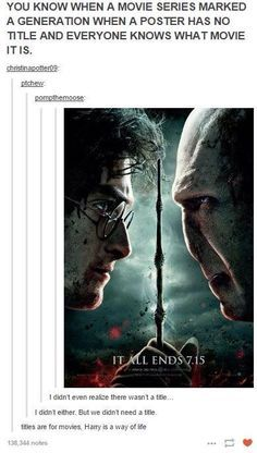 """""""Harry Potter is a way of life"""" ⚡️"""