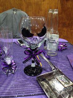Jack skellington wine glasses #handmade #nightmarebeforechristmas