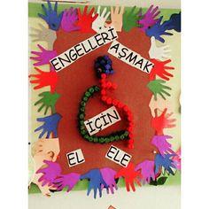Engelliler haftasi okul oncesi etkinlik paylasimi Classroom Bulletin Boards, Child Development, Pre School, Crafts For Kids, Singing, Christmas Ornaments, Holiday Decor, Children, School