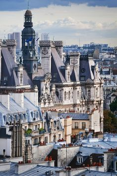 Vue des toits, Hôtel de Ville, Paris