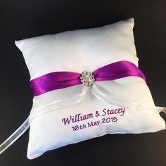 Personalised teddy bear personalised baby gift new baby gift by personalised ring cushion personalised wedding ideas purple wedding bridal bling australia www negle Image collections