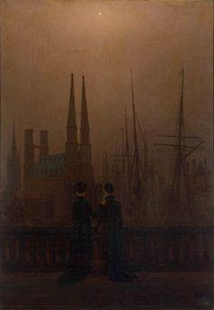 Caspar David Friedrich   / The Sisters on the Balcony