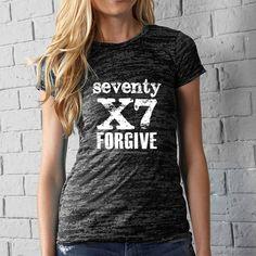 Forgive 70X7 Ladies Burnout Tee - Le Boutique Shop