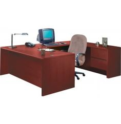 HON U-Shaped Office Desk with Right Pedestal Credenza. Renovating, redecorating or updating your workspace? Hertz Furniture offers a variety of office furniture pieces that will fit your needs and budget. http://www.hertzfurniture.com/office-furniture.html