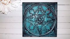 Wall Decor / Turquoise  Red / Metal Wall Decor / by Theshabbyshak, $39.99