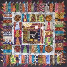Authentic African WallQuilt Imported Fabrics by KarenGriskaQuilts, $450.00
