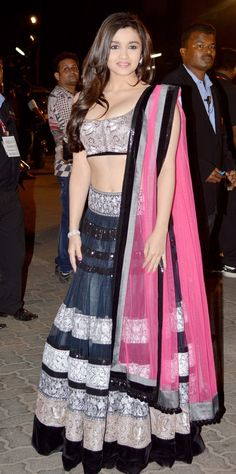 Alia Bhatt wearing a gorgeous outfit by Manish Malhotra @@@....http://www.pinterest.com/pin/219902394277193659/