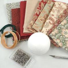 Styropor gömb bevonása textillel - Art-Export webáruház