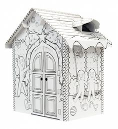 Colour Your Own Gingerbread House - Arts and craft activities - Learning Toys Cardboard Playhouse, Cardboard Toys, Cardboard Furniture, Kids Toys Online, Online Toy Stores, Buy Toys, Toys Shop, Cubby Houses, Play Houses