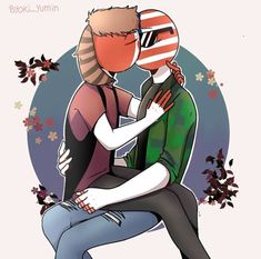 Brothers In Arms, America And Canada, Cute Comics, Country Art, Cool Countries, Hetalia, Fandoms, Fan Art, Fictional Characters