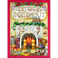 Christmas Magnet: Be Warm Inside and Out