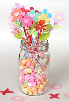 candy valentine flowers