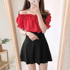 Korean Fashion Dress, Kpop Fashion Outfits, Girls Fashion Clothes, Ulzzang Fashion, Korean Outfits, Mode Outfits, Asian Fashion, Ulzzang Girl, Korean Fashion School