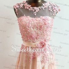 Sweetheart Lace Chiffon Floor-Length Prom Dres - Thumbnail 2