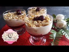 KIRSCHTRAUM DESSERT🍒 Schnelles Dessert ohne Gelatine 👉P&S Backparadies Cherry Desserts, Gelatine, Pasta, Tiramisu, Panna Cotta, Vox, Deserts, Pudding, Make It Yourself
