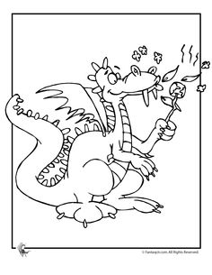 puff the magic dragon colouring sheet free - Google Search ...
