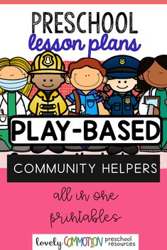 Learn all about 5 different helpers in our community: Police Officer, Firefighter, Mail Carrier, Dentist and Doctor!  In this one lesson plan pack, get 2 weeks worth of lesson plans to help you dig deeper into the theme. You also get a Center's Guide and ideas/materials needed to incorporate the theme into classroom centers to help young children learn the way they were created to learn- through play! Preschool Lesson Plans, Preschool Math, Learning Activities, Kids Learning, Early Reading, Phonological Awareness, Thematic Units, Community Helpers, Early Literacy