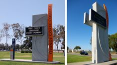 Signage Master plan for the entire Orange Coast College campus. Pylon Signage, Monument Signage, Entrance Signage, Exterior Signage, Outdoor Signage, Wayfinding Signage, Signage Design, Environmental Graphic Design, Environmental Graphics