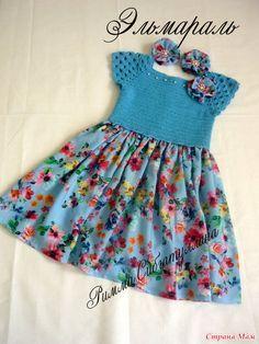 . Комбинированное платье для моей дочурки
