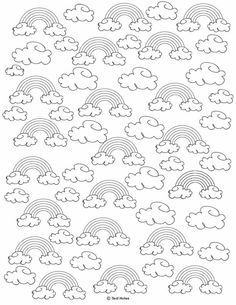 rainbow coloring page. free printable rainbow template Coloring Pages For Grown Ups, Free Adult Coloring Pages, Disney Coloring Pages, Free Printable Coloring Pages, Colouring Pages, Coloring Sheets, Coloring Book, Free Printable Stickers, Templates Printable Free