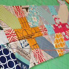 + and x blocks would make an awesome border. Here's the tutorial for the blocks from Amy @badskirt