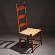 Shaker Red-stained Tilter Chair | Sale Number 2731M, Lot Number 10 | Skinner Auctioneers Andrew Shaker Collection $4,000 - $6,000