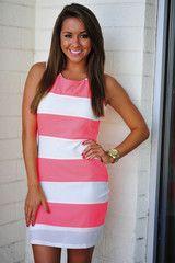 Neon Horizon Dress: Neon Pink
